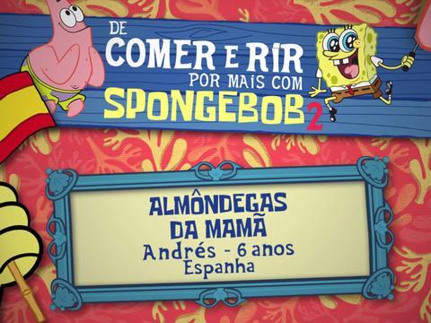 De Comer e Rir Por Mais Com SpongeBob: Almôndegas da Mamã