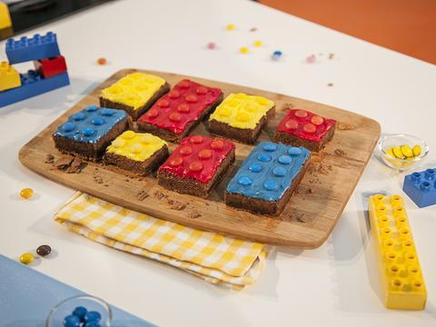 Receita BROWNIE DE LEGO