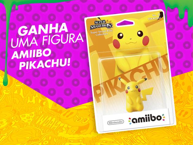 Ganha uma figura Amiibo Pikachu!