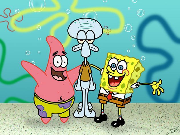 SpongeBob şi invitaţii lui speciali
