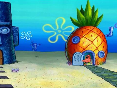 SpongeBob and Fun in Squid World