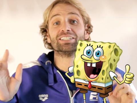 Massimiliano Rosolino fa lo Spongebob Lip Sync