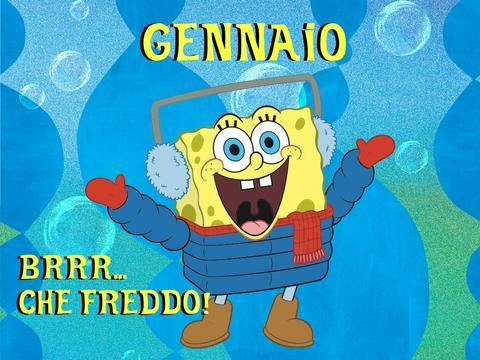 Il calendario 2014 di Spongebob