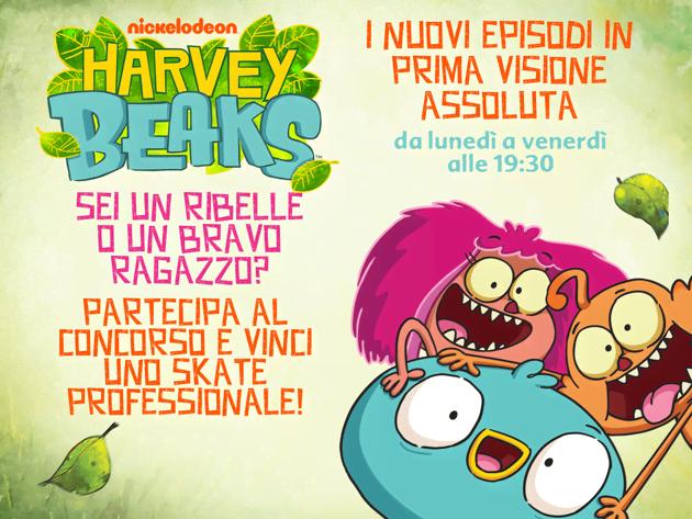 Gioca e vinci con Harvey Beaks!