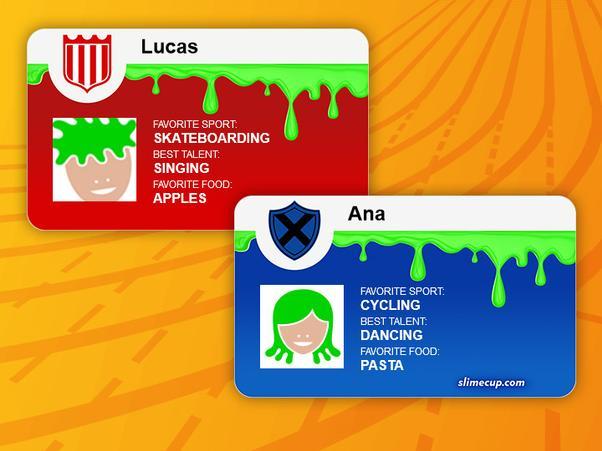 Mach' deine eigene Slime Cup Spielerkarte!