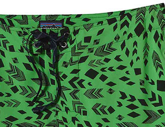 Patagonia Green Patterned Board Shorts