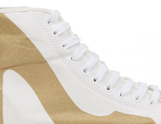 Be&D Brightlights Canvas Hi-Top Trainers