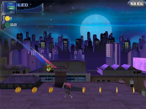 GIFs Tartarugas Ninja - Corrida no Telhado