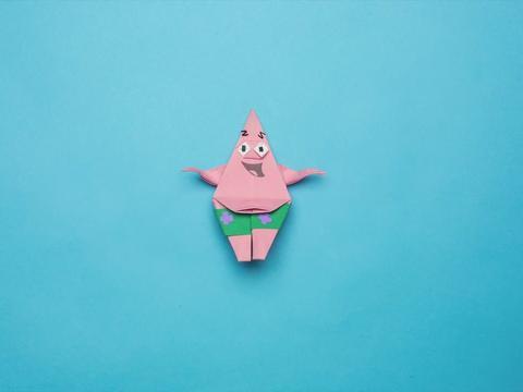 Patrick Star Origami