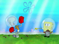 Blocking and dodging are not among Squidward's natural talents.