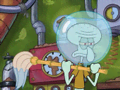 After a few hours of chores, Squidward starts to wonder if Sandy is putting him on...