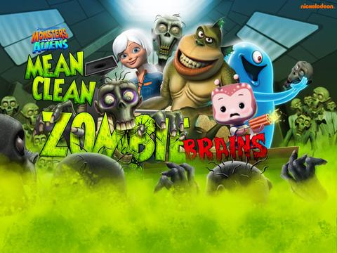 Monsters Vs Aliens: Mean, Clean, Zombie...Brains