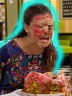 ¡Pastel en la cara!