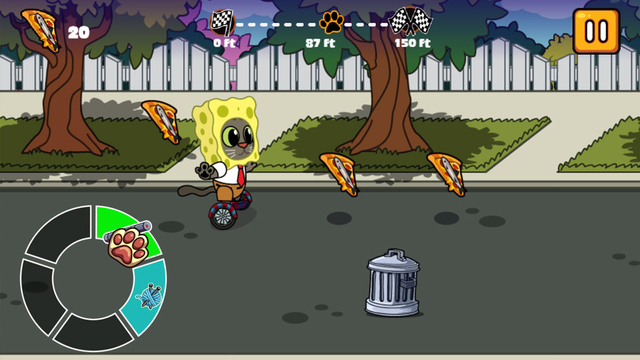Nickelodeon Hover Pizza Cats Racing Game