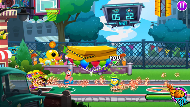 Nickelodeon Basketball Stars 2 Sports Game