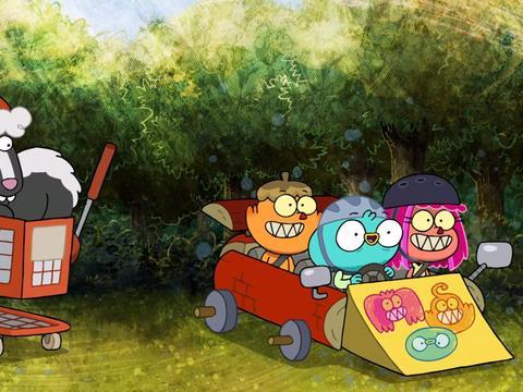 """Harvey Beaks: """"Bark Kart"""""""