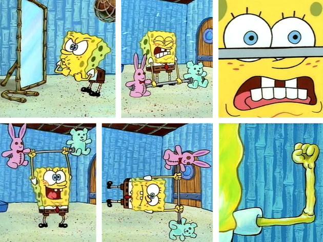 I muscoli di Spongebob!
