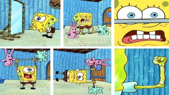 spongebob fa i muscoli immagini spongebob squarepants