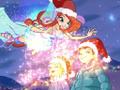 ¿Luz? ¡OK! ¿Nieve? ¡OK! ¿Gorros de Santa Claus? ¡OK! ¡Esto se esta pareciendo a una Navidad!