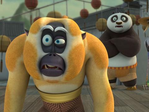 "Kung Fu Panda: ""Crane on a Wire: Monkey Auctions"""