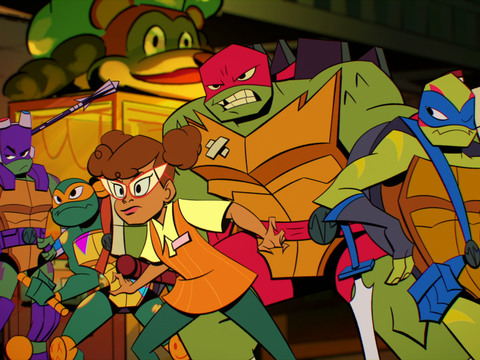 RISE OF THE TMNT | S1 | Episodio 03 | Guerra y Pizza / Noticiable