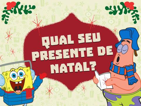 Bob Esponja Calça Quadrada: Qual Seu Presente De Natal?