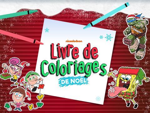 Nickelodeon Livre de coloriages de Noël