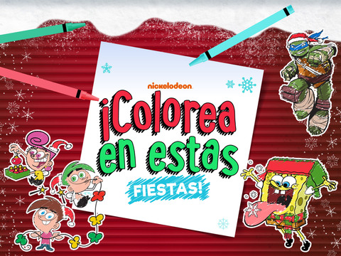 Nickelodeon ¡Colorea en estas Fiestas!
