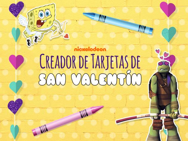 Nickelodeon Creador de Tarjetas de San Valentín