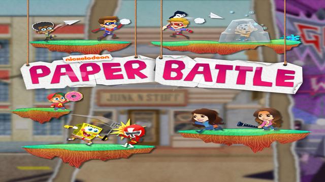 Nickelodeon Paper Battle