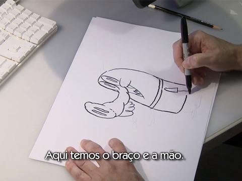 Porco Cabra Banana Grilo | Short | Como Desenhar o Porco