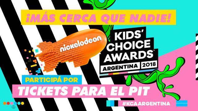¡Participá por entradas al PIT de los Kids' Choice Awards Argentina 2018!