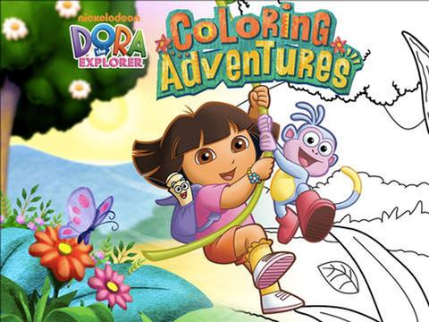 ¡Colorea con Dora la Exploradora!