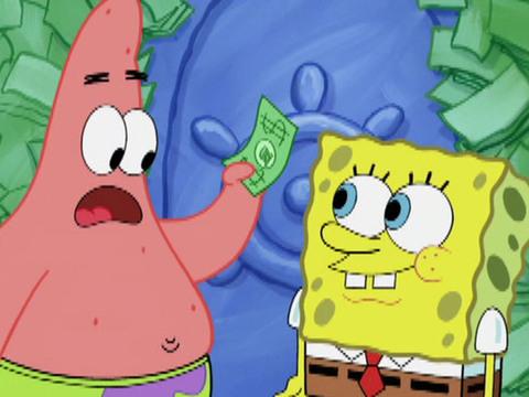 Bob Esponja | Short | ¿Qué hacer con tanto dinero?