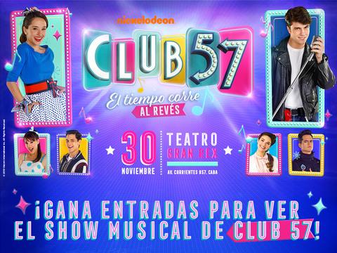 ARGENTINA: Participá por entradas para CLUB 57 EN VIVO