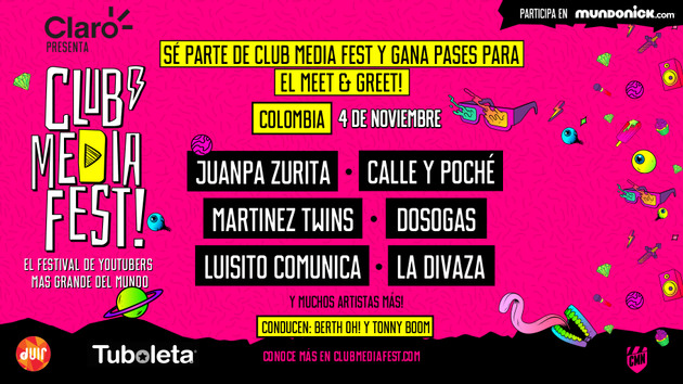 COLOMBIA: ¡Participa por entradas Meet & Greets del Club Media Fest!