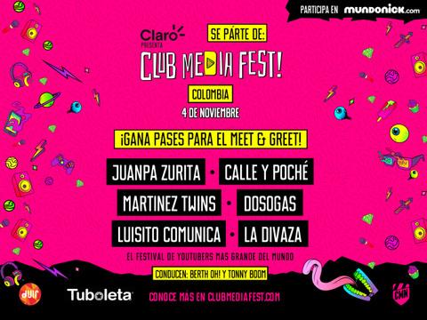 COLOMBIA: ¡Participa por entradas Meet & Greets del Club Media Fest!