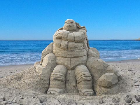 Las Tortugas Ninja | Escultura de Arena