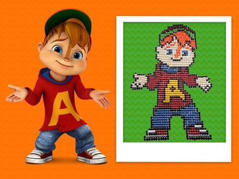 Alvin fatto con le caramelle