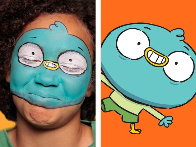 Il face painting di Harvey Beaks: tutorial