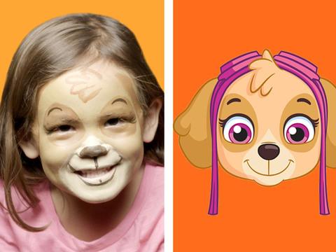 Patrulha Canina | Short | Pintura Facial - Skye