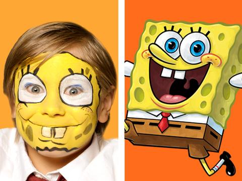 Spongebob Face Painting