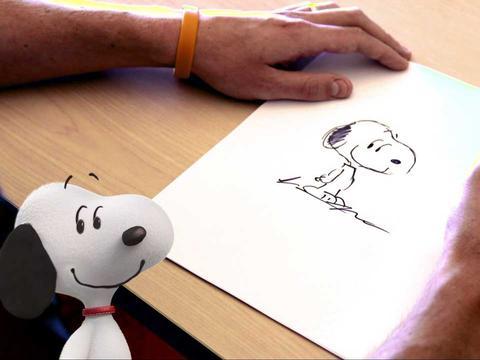 Orange Carpet - 'Peanuts' We're Drawing Snoopy