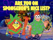 Are you on SpongeBob's nice list?