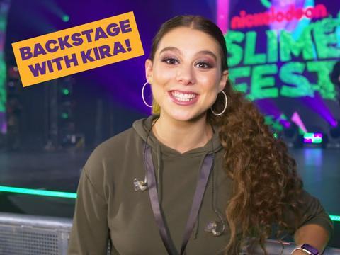 Backstage with Kira!