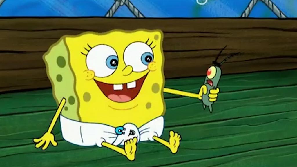 Baby SpongeBob And Baby Patrick