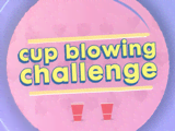 Jack & Kira: Cup Blowing Challenge