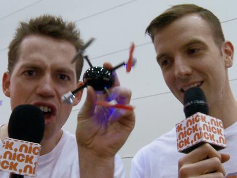 Toy Fair 2013: Luke and Wyatt test out a 'Micro Drone'