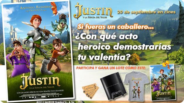 JUSTIN Y LA ESPADA DEL VALOR TE REGALA UNA PS3 Y UN LOTE DE PRODUCTOS DE LA PELI