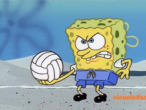 Un partido de vóleibol - Bob Esponja